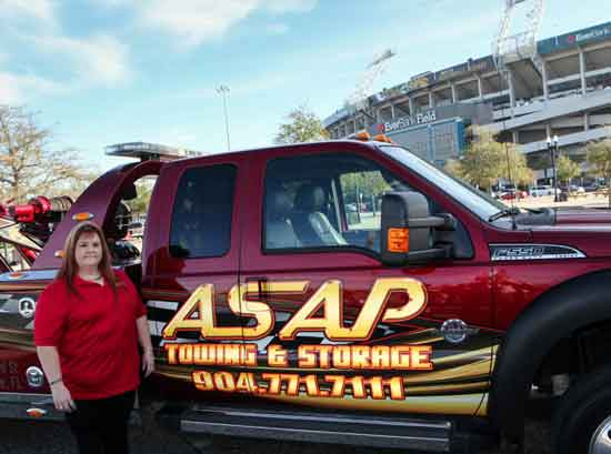 Carmie McInarnay of ASAP Towing